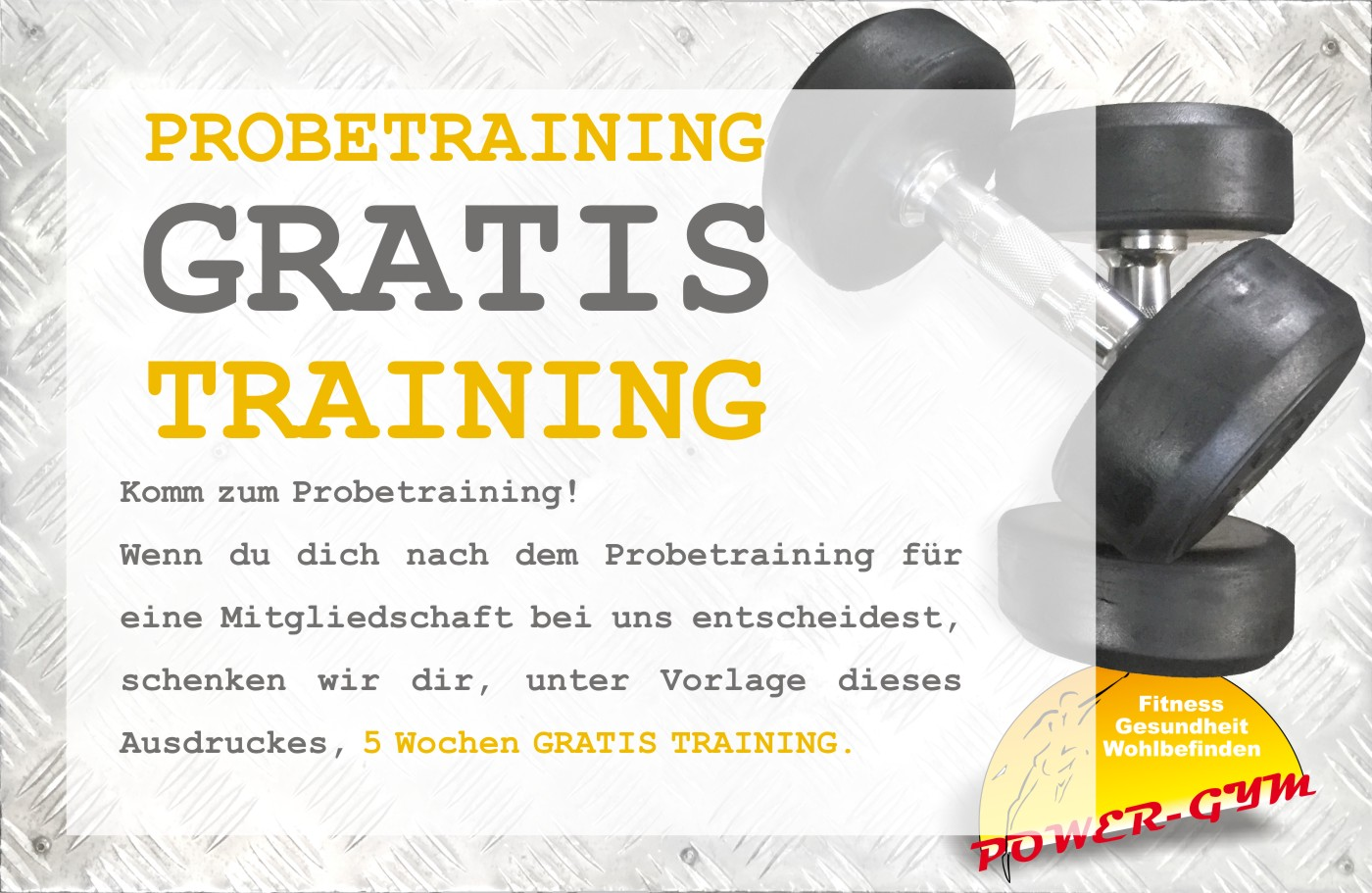 gratis probetraining fitnesscenter training